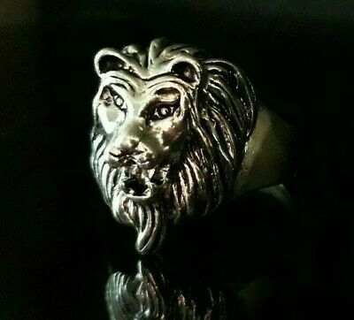 Rare Ancient Ring Silver Viking Artifact Authentic Lion Jewelry Medieval Quality
