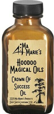 Ma Marie's Crown Of Success Magical Oils Anointing Conjure Hoodoo Oil 1 Oz.