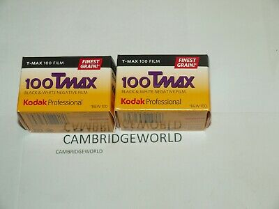 Kodak  100 TMAX 135-24 T-MAX FRESH Black and White 35mm Film 2 rolls in BOX TMAX