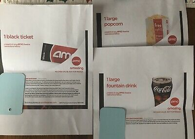AMC Black Movie Ticket, Large Popcorn, Drink