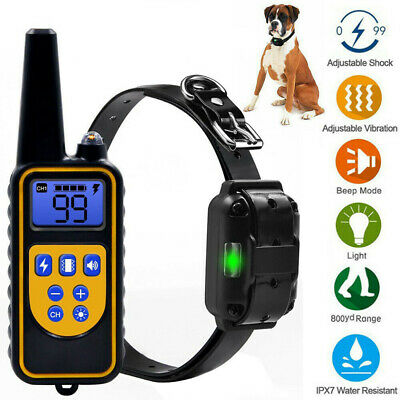 Dog Shock Collar Waterproof Electric for Large 875 Yard Pet Training With Remote