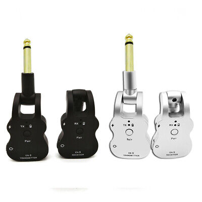EN9 Wireless Guitar System 2.4G UHF Audio Transmitter Receiver Rechargeable S5V6