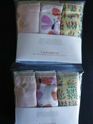NWT Gymboree 7-8 Butterfly Floral Panties Underwear 6 Pack