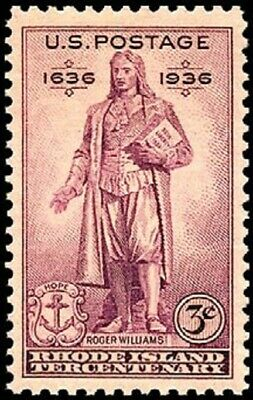 USA 1936 (2 for $1 Auction) - Rhode Island Tercentenary Issue 1636-1936 -- #777