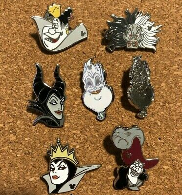 Newly Traded Disney Parks Complete 2019 Wave A Villains Hidden Mickey Pin Set