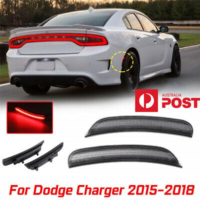 Smoked Lens LED Side Marker Lights Error Free Lamps For Dodge Charger 2015-2018