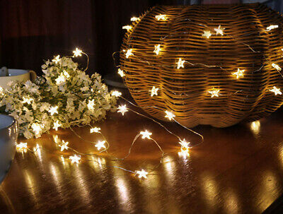 10 LED Star Light  Cozy String Fairy Lights For Bedroom Xmas Wedding Party HOT