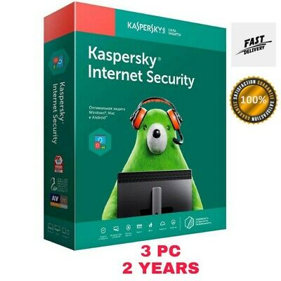 Kaspersky Internet Security 2019/2020 Antivirus - 3 Pc | 2 Years Au Stock! 14.9$