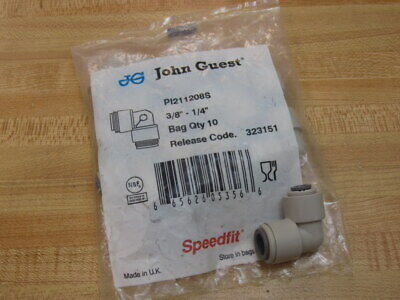 John Guest PI211208S Reducing Elbow (Pack of 10)
