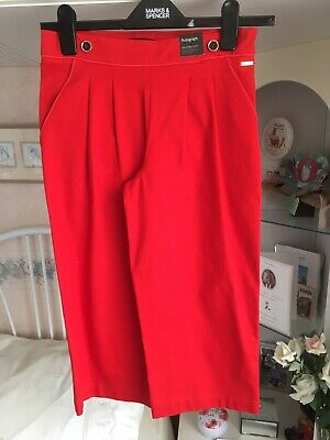 Marks & Spencer Girls Autograph Red Trousers Age 9-10 Bnwt