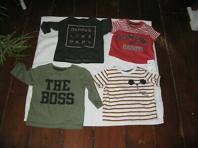 Job Lot Baby Clothes 4 Brand New Age 3/6 Month Tops F&F,Nutmeg Bnwt,Next