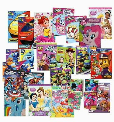 LOT of 10 Disney Assorted Coloring & Activity Books for Children Kids Boys Girls