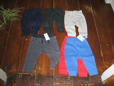 Job Lot Baby Clothes Bnwt 6 Pairs Boys Trousers Age 3/6 Months Nutmeg, George