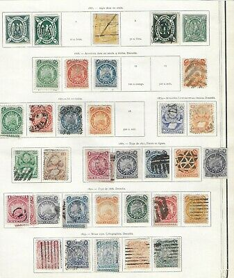 BOLIVIA Used/Unused Classic Lot on Old Album Page Unchecked