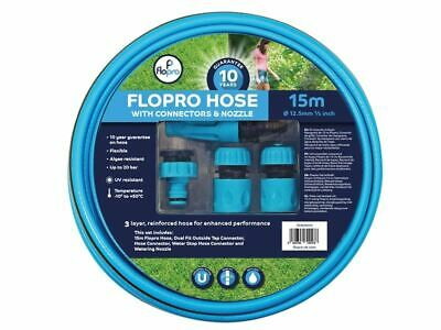 Flopro Hose 15m with Connectors 12.5mm (1/2in) Diameter FLO70300011