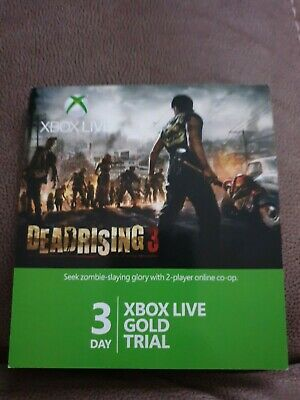 Xbox Live Gold 3 Day Gold Trial Three Day Gold 72 Hours Xbox Trial Microsoft