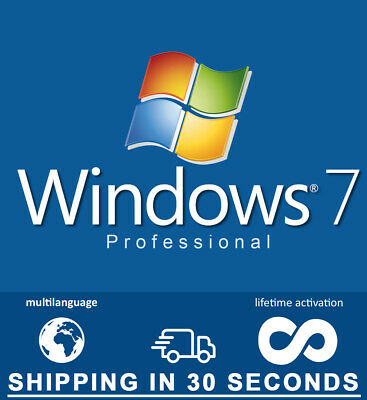 Microsoft Windows 7 Pro Professional - 32-64 bit OEM- Multilingual - Guaranteed