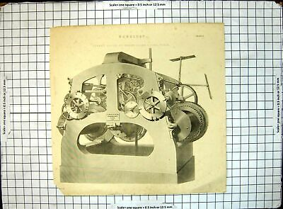 Original Old Antique Print Horology Turret Clock Messrs Cooke Sons York