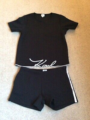 Karl Lagerfield Girls Top And Shorts Set Age 14