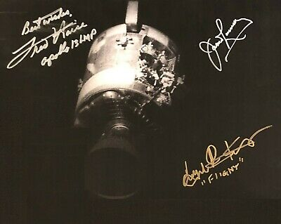 James Lovell Fred Haise Kranz Autographed Signed 8x10 Photo (Apollo 13 ) REPRINT