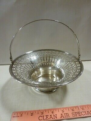 TIFFANY & Co MAKERS Sterling Silver 925/1000 Elegant RETICULATED Pierced Basket