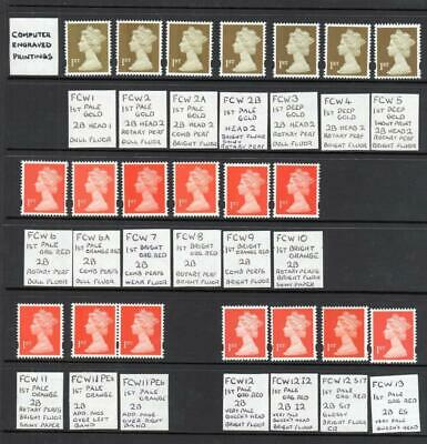 SPECIALISED COLLECTION OF UNMOUNTED MINT 1st NVI MACHINS