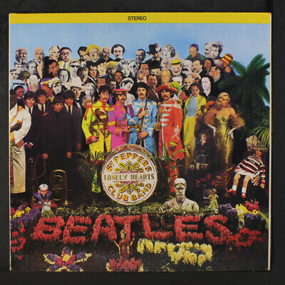 BEATLES: Sgt. Pepper's Lonely Hearts Club Band LP (Canada, pinkish grey vinyl,