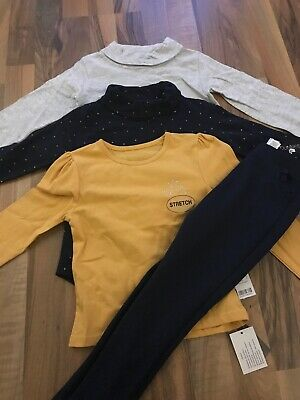All New Girls Winter Clothes Bundle Age 3-4 Years, Tops And Leggings. Bnwt