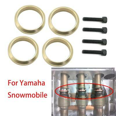 8pcs Copper Exhaust Gasket For Yamaha Snowmobile Vector Rage 91317-06030 US1