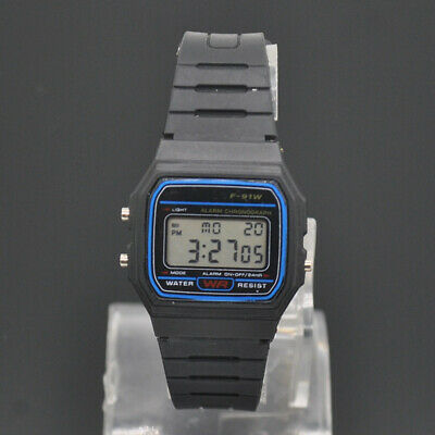 Casio Men's F91W-1 Clasic Black LED Digital Resin Strap Wrist High Quality Watch