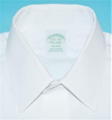 Brooks Brothers Milano Extra Slim Fit 15.5 34 solid white dress shirt (w2j7