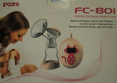 Fashion Cat Electronic Breast Pump ~ Fc-801 ~ Brand New ~ Free Shipping ~