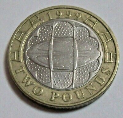 1999 Rugby World Cup Wales £2 QEII.