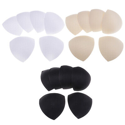 3 Pairs Triangle Removable Bra Pads Inserts Sponge Push Up for Women Bikinis