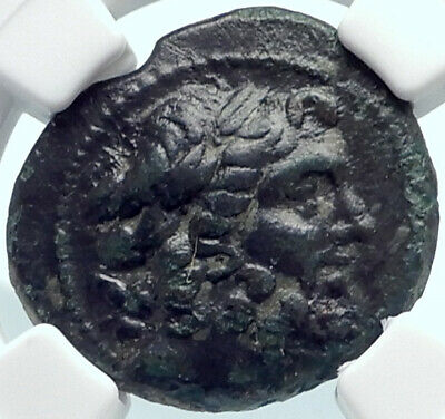 AIGEAI in CILICIA Authentic Ancient 2-1CenBC Greek Coin ZEUS ATHENA NGC i81912