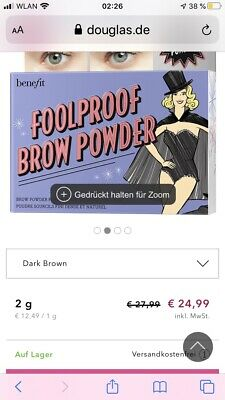 Benefit Foolproof Brow Powder 5 2.0g Neu