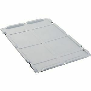 ALLIT Tapa abatible PP L600xB400mm gris para cajas apilables ALLIT, 456796