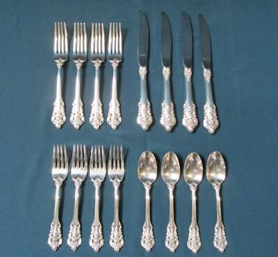 Wallace Grand Baroque Sterling Silver, Place Settings for 4, No Monogram (270)