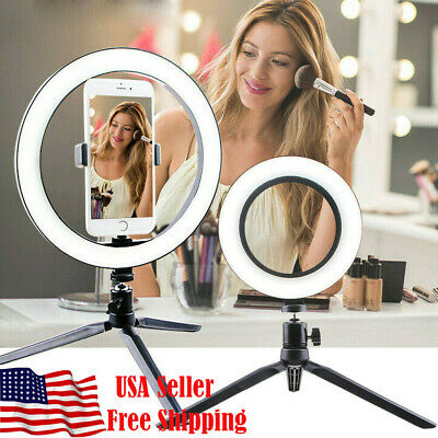 LED Ring Light Dimmable 5500K Lamp Photography Camera Studio Phone Video
