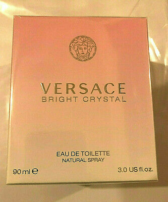 Versace Bright Crystal 3.0 oz 90 ML Spray Eau De Toilette Natural - NEW & SEALED