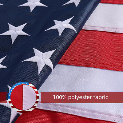 5'X8' ft  American Flag US USA | EMBROIDERED Stars| Sewn Stripes| Brass Grommets