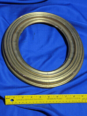 Antique Solid Wood Carved Oval Picture Frame Gold Paint Gilt Gesso VTG Painting