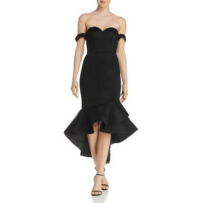 Bariano Womens Black Off-The-Shoulder Sweetheart Formal Dress Gown M BHFO 3884