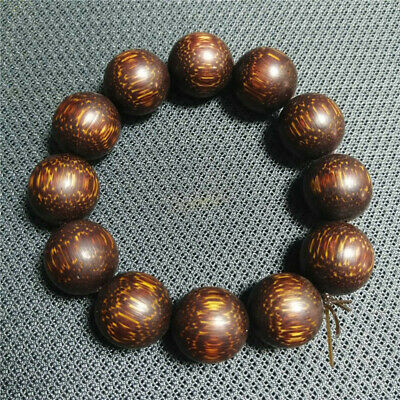 """3.35"""" Collection Chinese Exquisite Ox horn Hand-made Buddha beads Bracelet a111"""