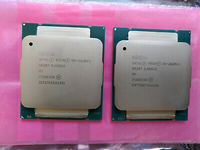 Matched Pair, 2 x Intel Xeon E5-2620V3 Processor CPU - SR207
