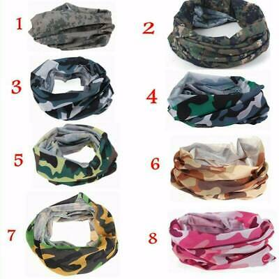 Camo Tube Scarf Multi-Function Bandana Shield Warmer Neck Scarf Headwear Snood