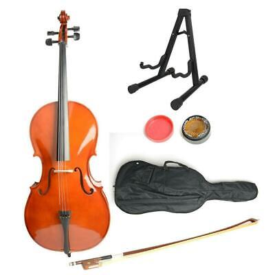 Students High Quality 4/4 Size BassWood Cello+Case+Bow+Rosin+Stand UK