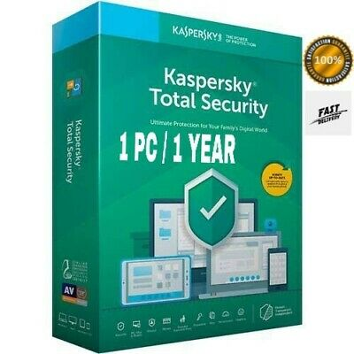 Kaspersky Total Security 2020 1 Pc Device 1 Year *Same Day Delivery* Buy Soon!