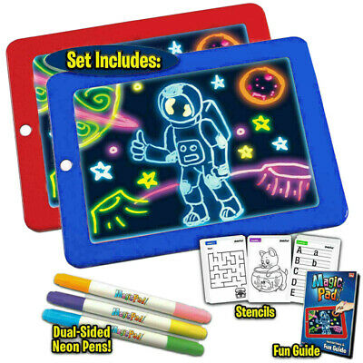 3D Magic Pad Light Up Drawing Pad with Neon Pen Creative Glow Art Light For Kids