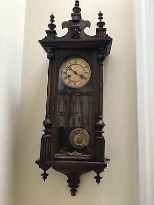 Antique Junghans (Wurttemburg) Oak Cased Striking Regulator Wall Clock